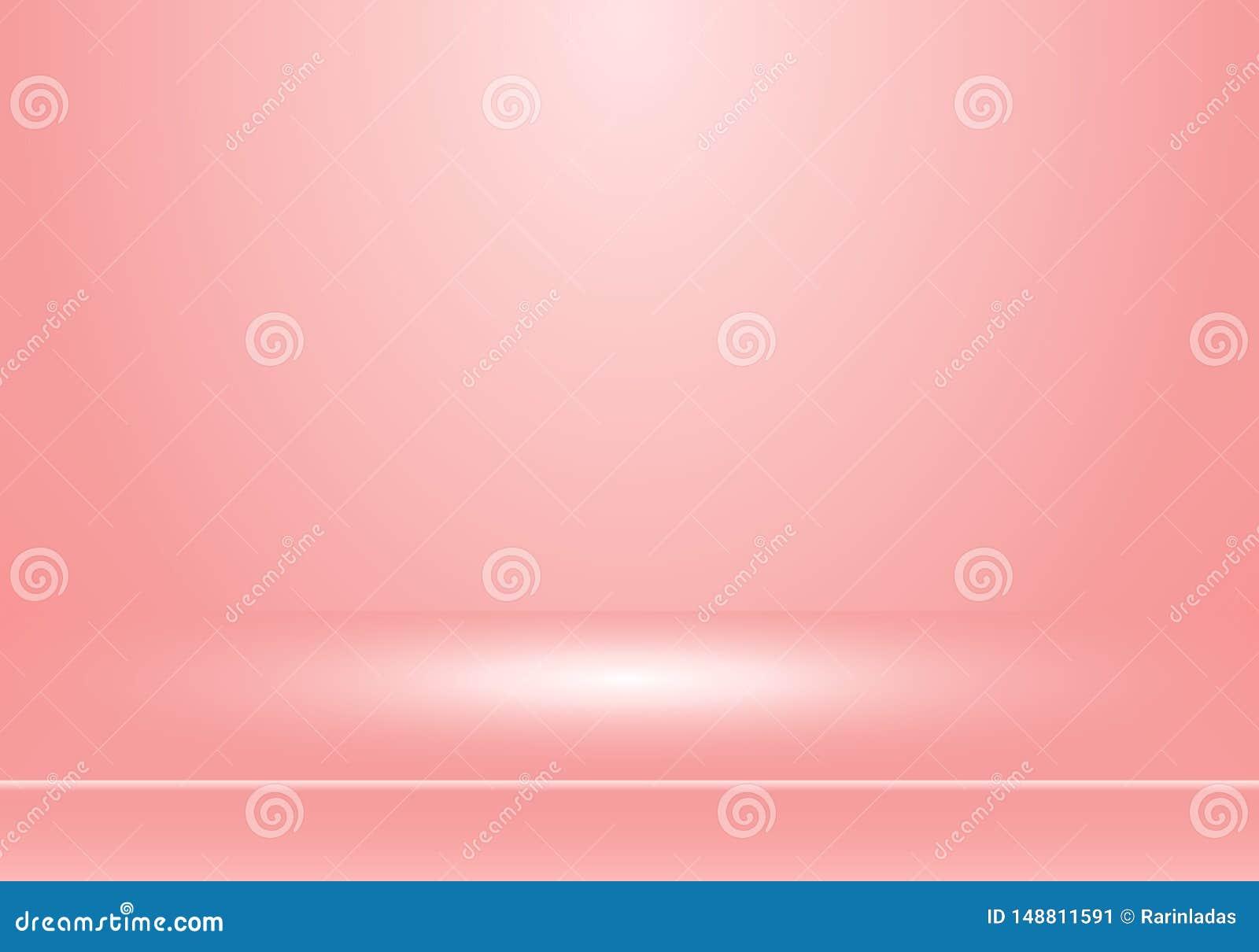 Cabina vac?a de la demostraci?n del sitio del estudio 3D para los dise?adores con el proyector en fondo rosado en colores pastel