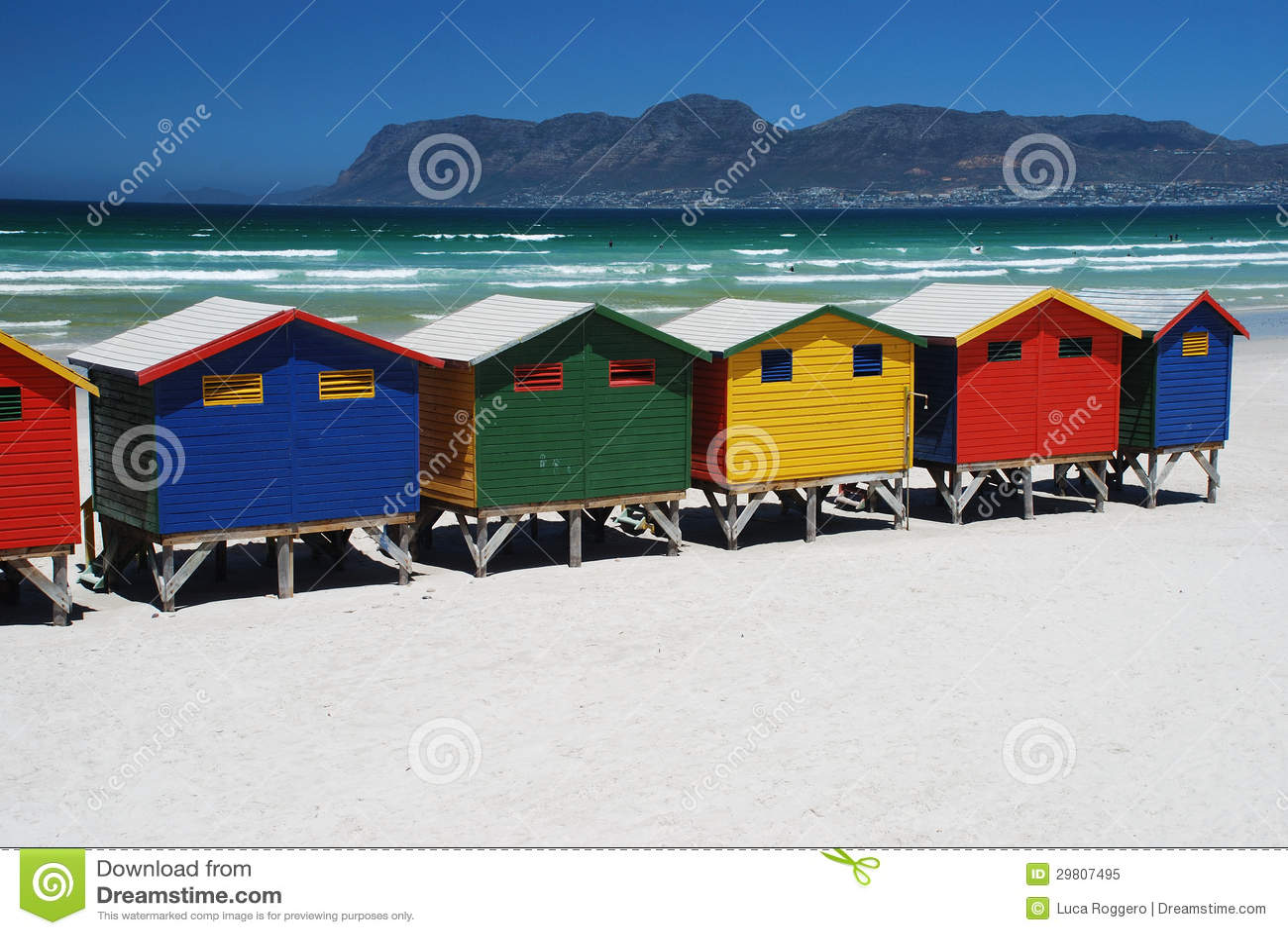 Capanne della spiaggia in Muizenberg, Sudafrica