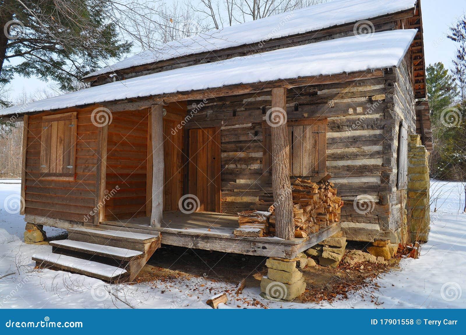 Cabine de registro na neve