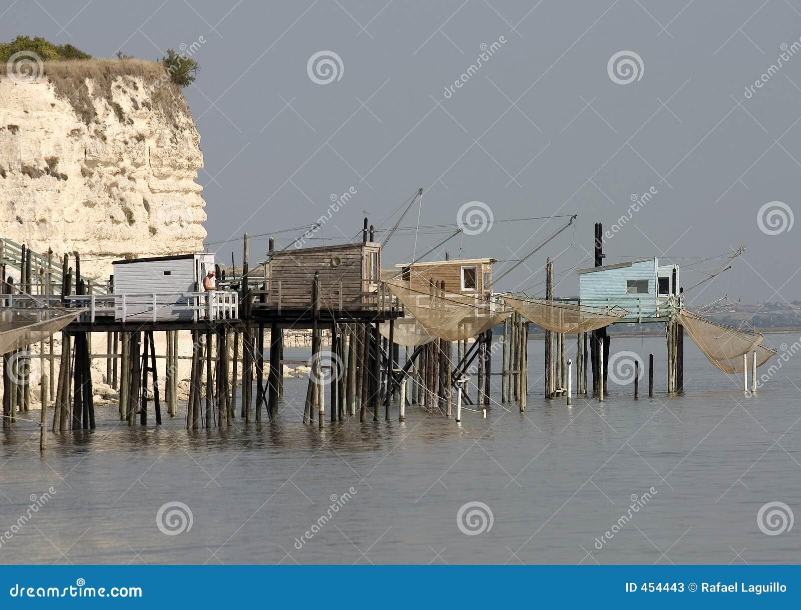 cabine del fisher nell 39 estuario della gironda francia
