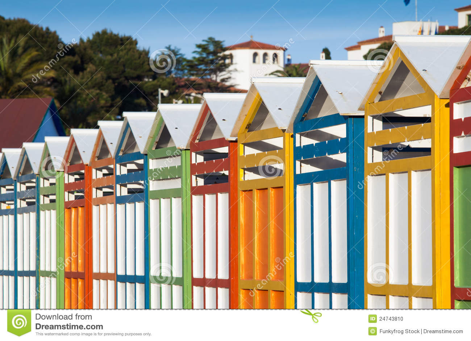 cabine della spiaggia di estate fotografia stock