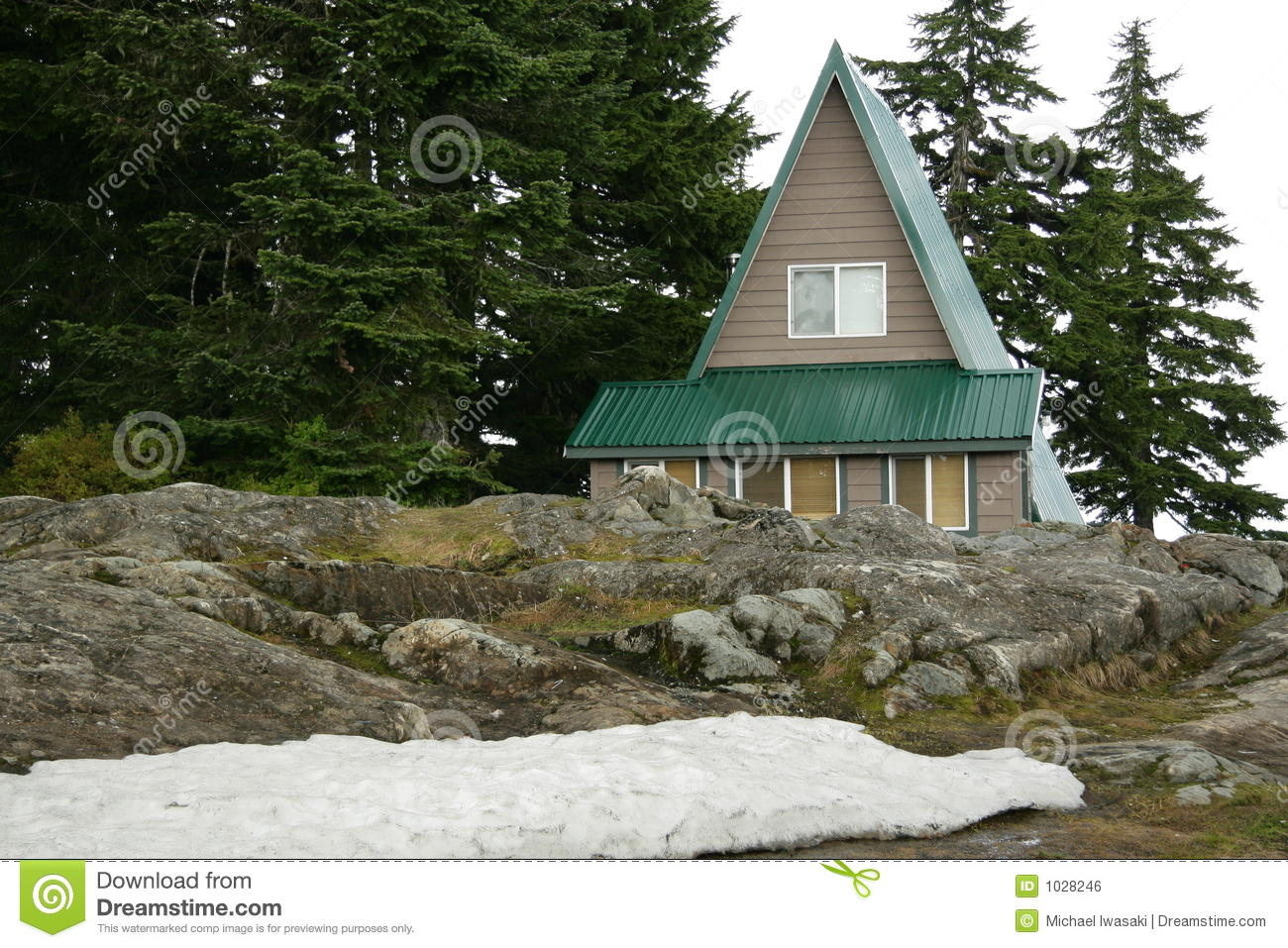 cabine en montagne photo stock image du ressource