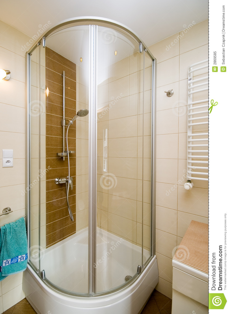 Cabine moderne de douche photo libre de droits image 2869585 for Photos douches modernes