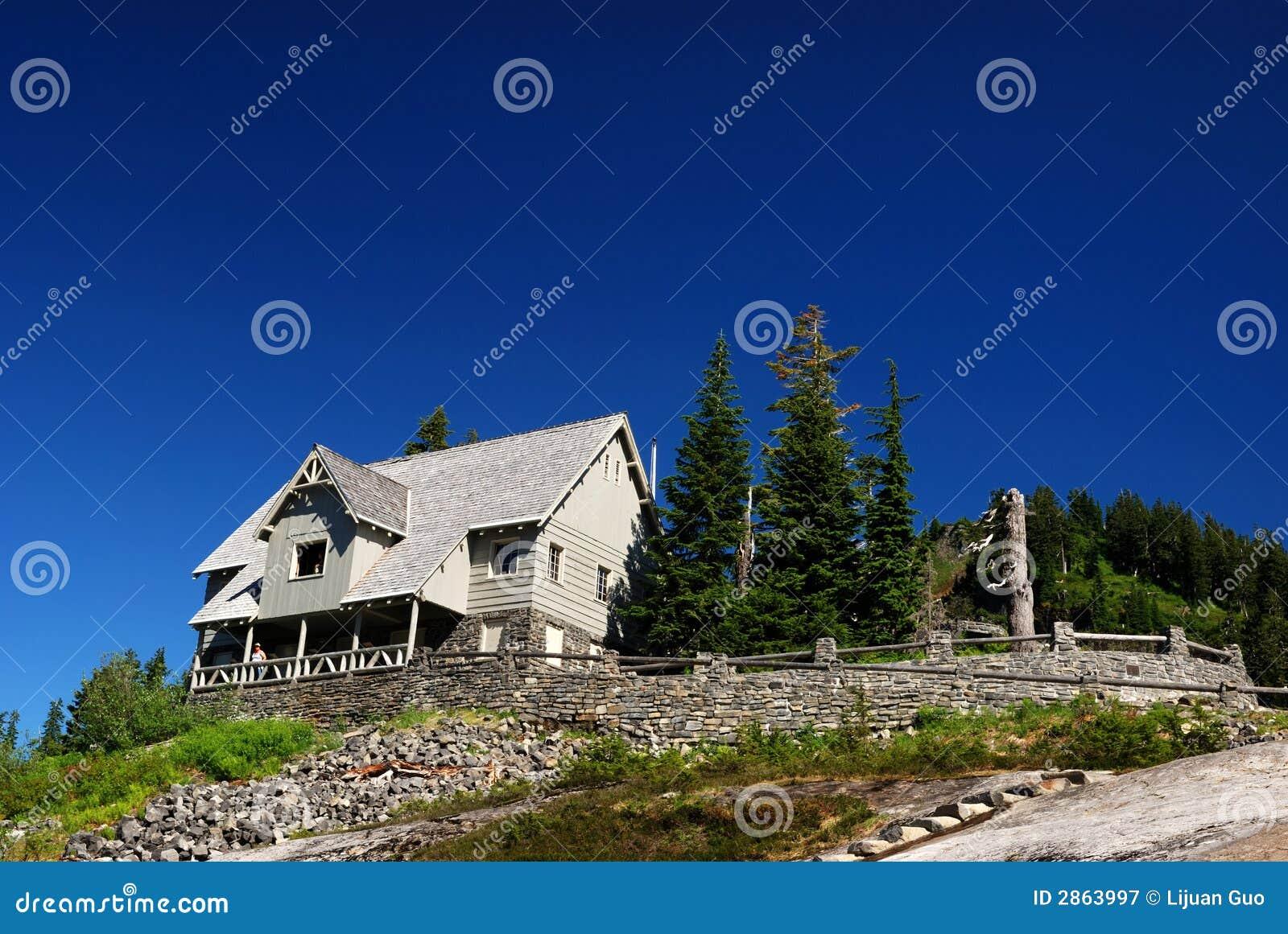 Cabine sur la montagne