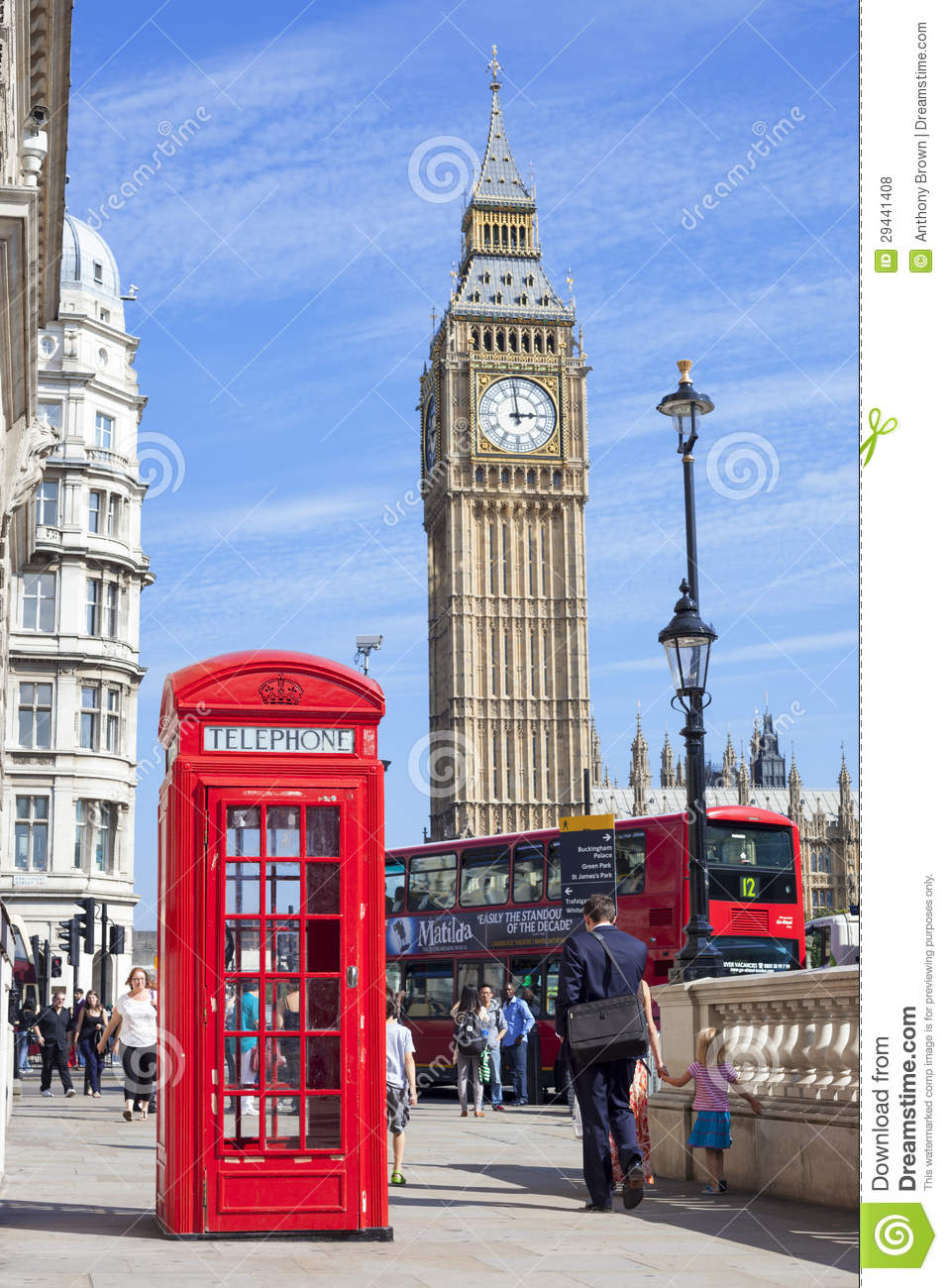 cabine t l phonique rouge westminster angleterre photo stock ditorial image 29441408. Black Bedroom Furniture Sets. Home Design Ideas