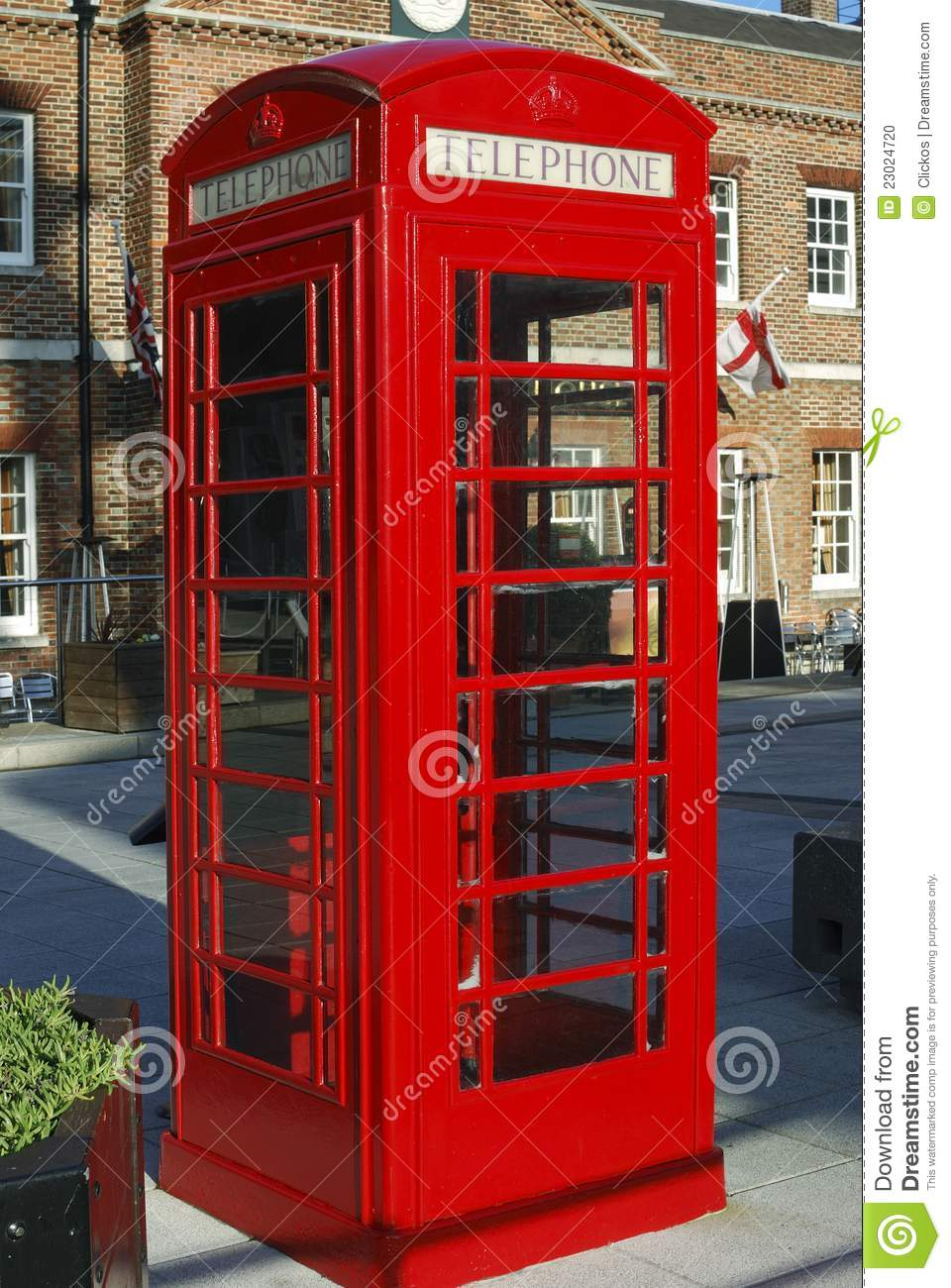 Cabine t l phonique rouge anglaise photo stock image 23024720 - Cabine telephonique a vendre ...