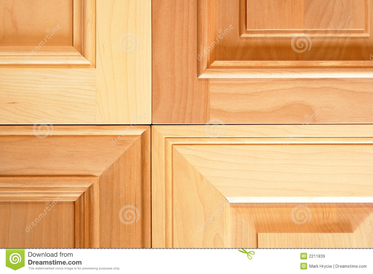 Cabinet Doors Stock Image Image Of Mitre Maple Custom 2211839