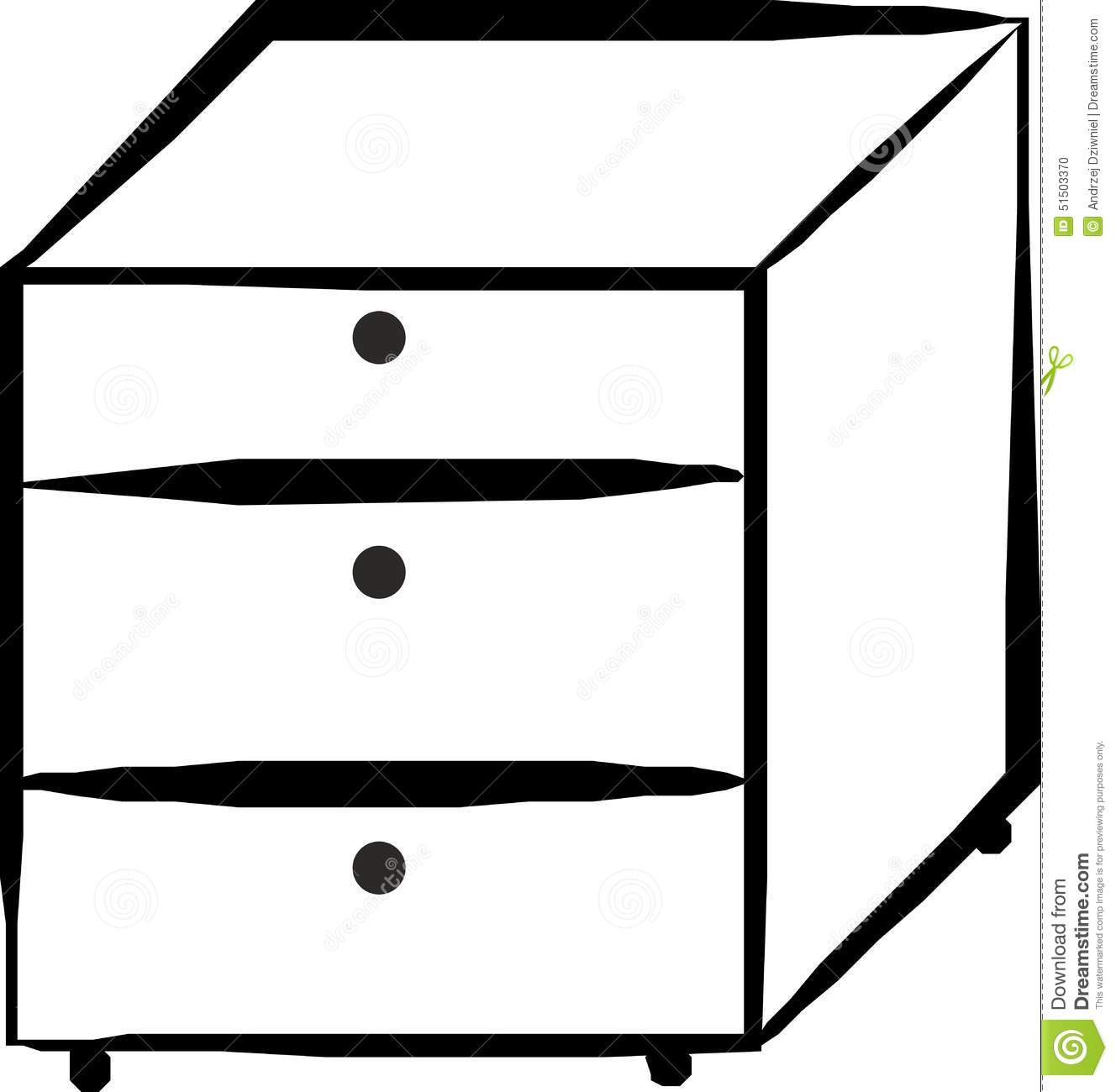 Cabinet With Drawers Stock Illustration Image 51503370