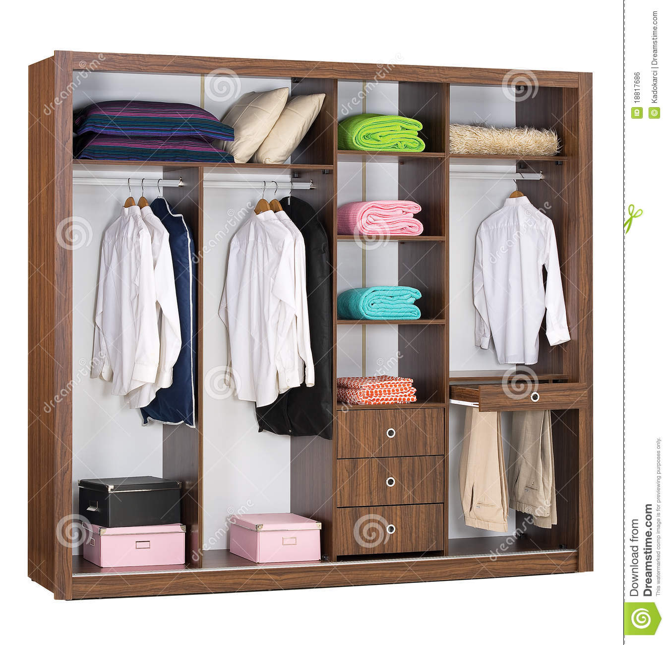 Cabinet Inside Royalty Free Stock Image
