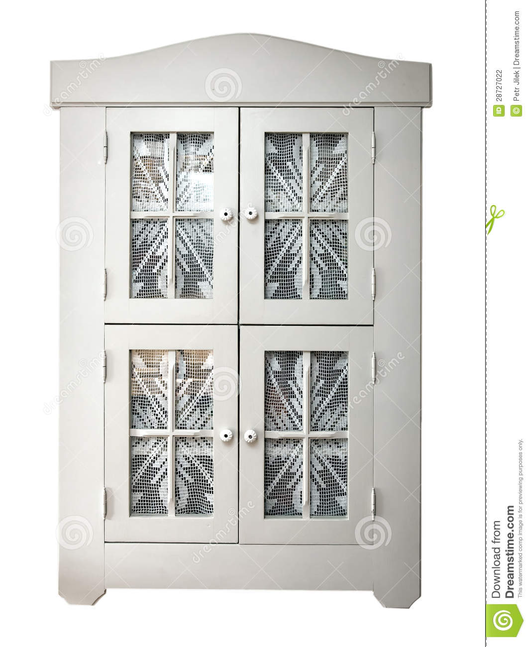 Kitchen Cabinets With Curtains Instead Of Doors: Cabinets With Curtains Stock Photography