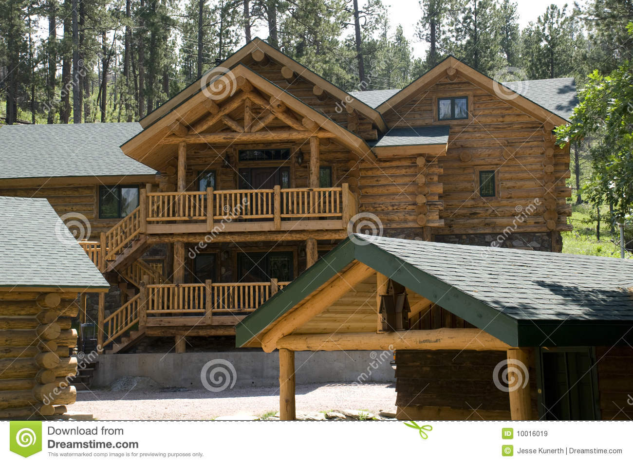 cabins in the black hills of south dakota royalty free