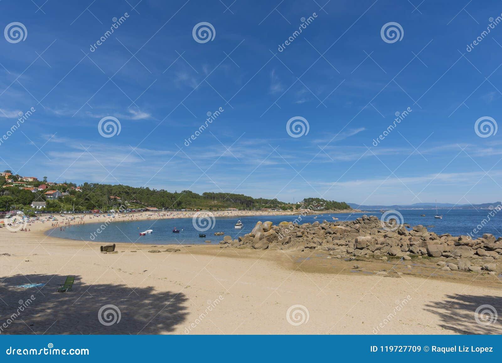 Cabio-Strand ein Pobra tun Caraminal, La Coruna - Spanien