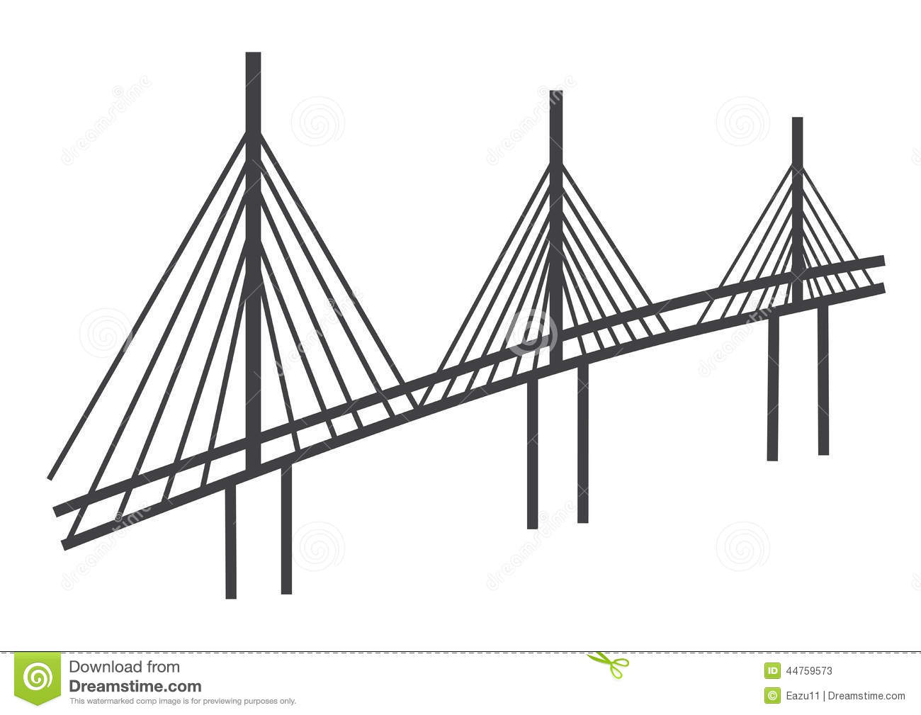 Stock Illustration Cable Bridge Drawing Simple Illustration Tall Image44759573 on simple car illustrations