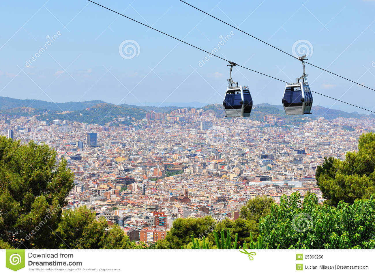 47c90282120 Cable Car In Barcelona