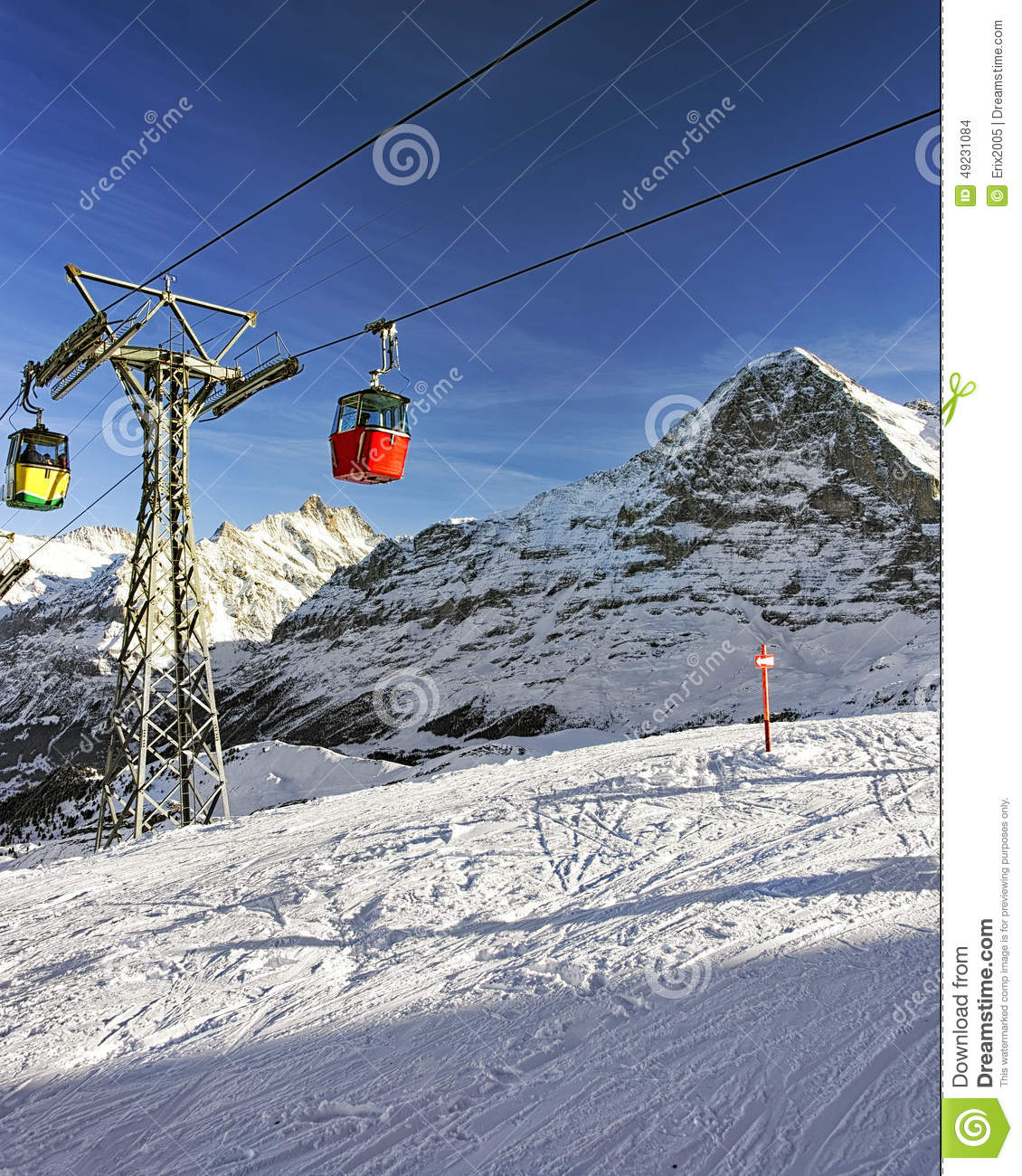 Cable car cabins on winter sport resort in swiss alps stock photo download cable car cabins on winter sport resort in swiss alps stock photo image of publicscrutiny Gallery