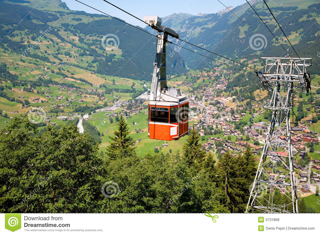 Cable Car in Grindelwald, Bern Canton, Switzerland