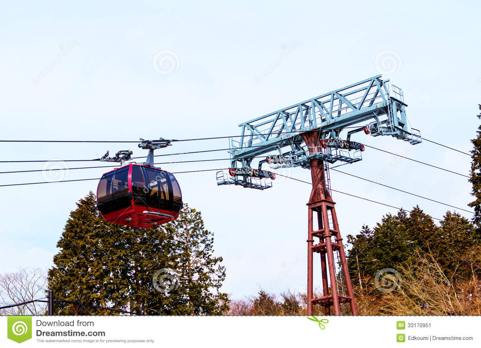 Cable Car At Hakone Lake, Japan Stock Image - Image of ...