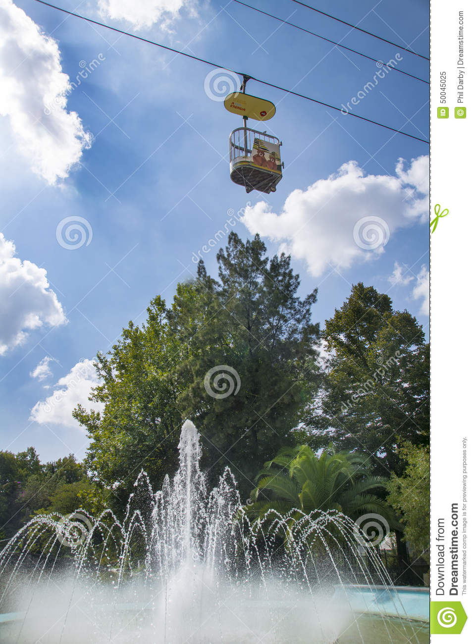 cable car at lisbon zoo editorial image image of water 50045025. Black Bedroom Furniture Sets. Home Design Ideas