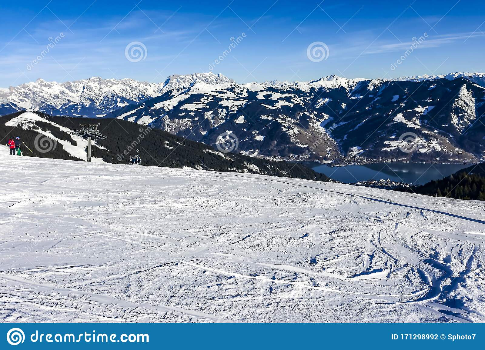 Winter Sunny Day In The Mountains Snowy Winter Mountain Background Stock Photo Image Of Holiday Mountain 171298992
