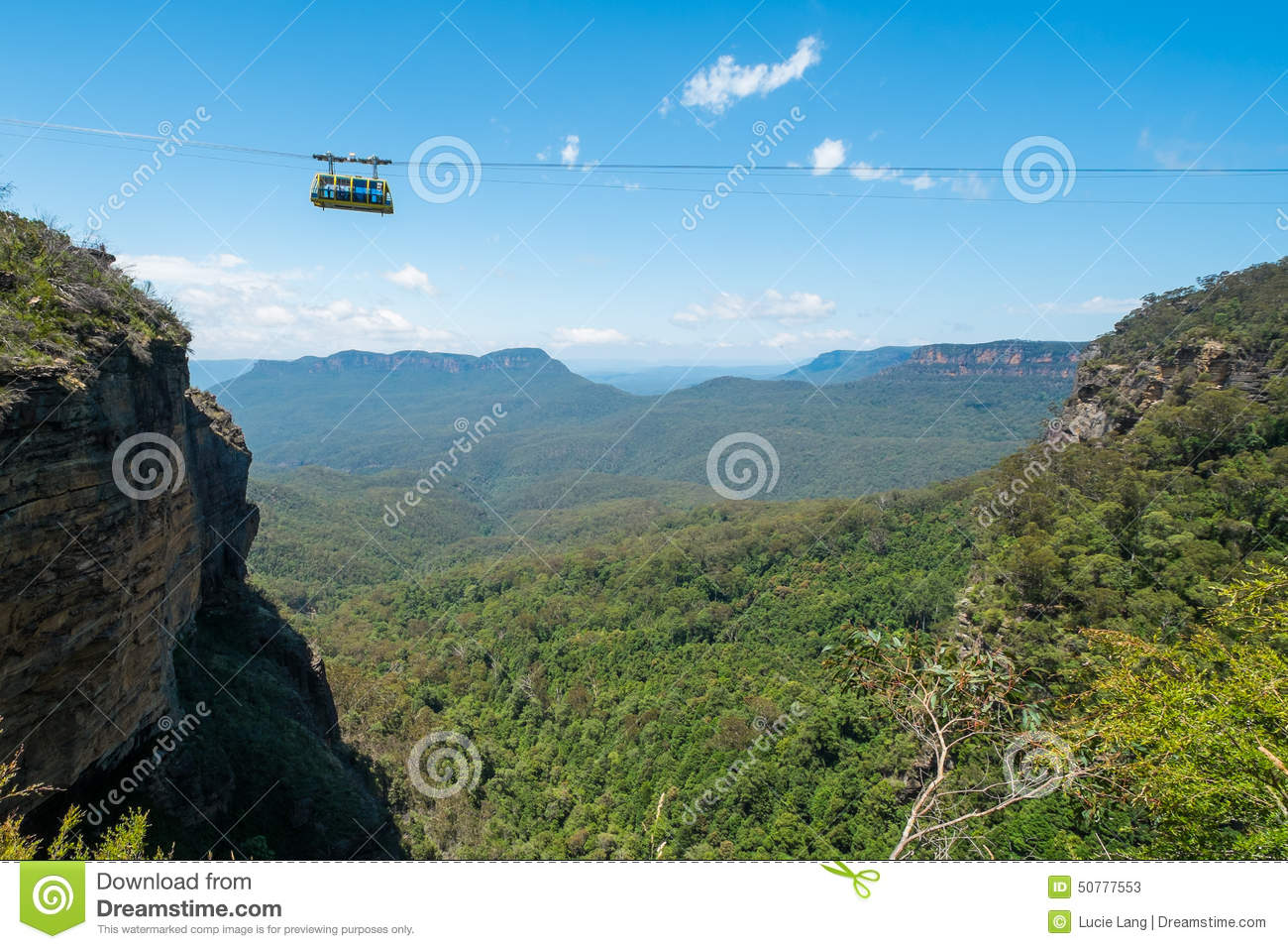 Cable car at Scenic World in the Blue Mountains.
