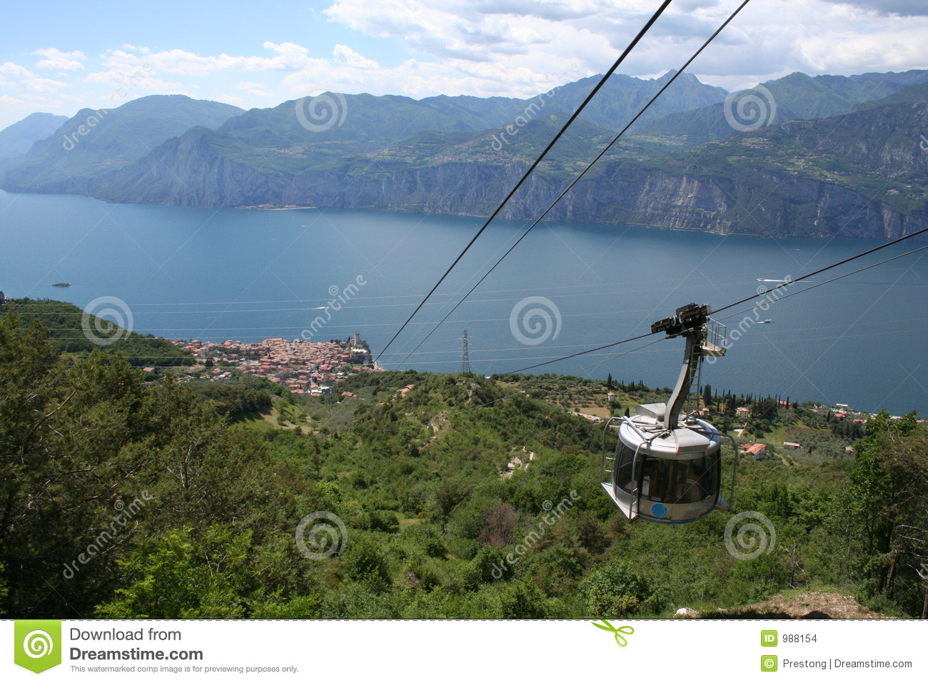 Cable Car to Malcesine.