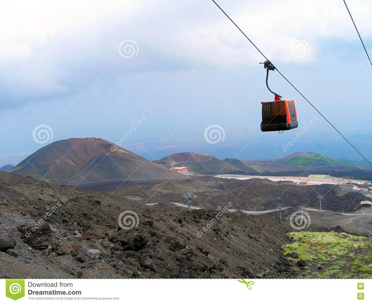 The cable car to Mount Etna.
