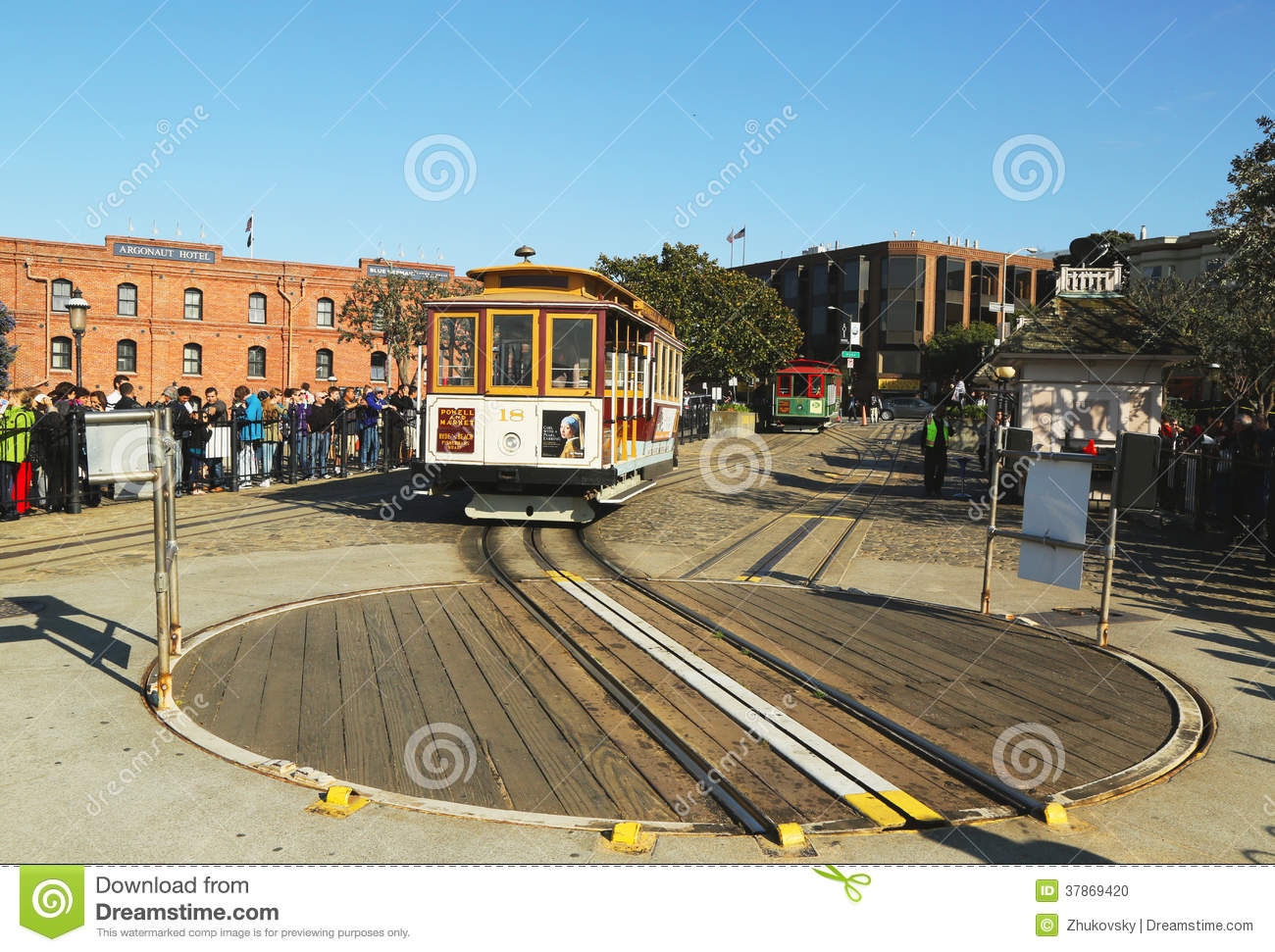 Cable car on turntable at hyde and beach terminal in san for Car turntable plans
