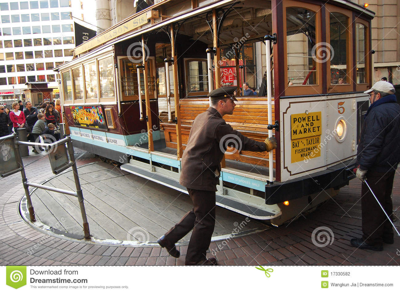 Cable car on turntable san francisco editorial for Car turntable plans