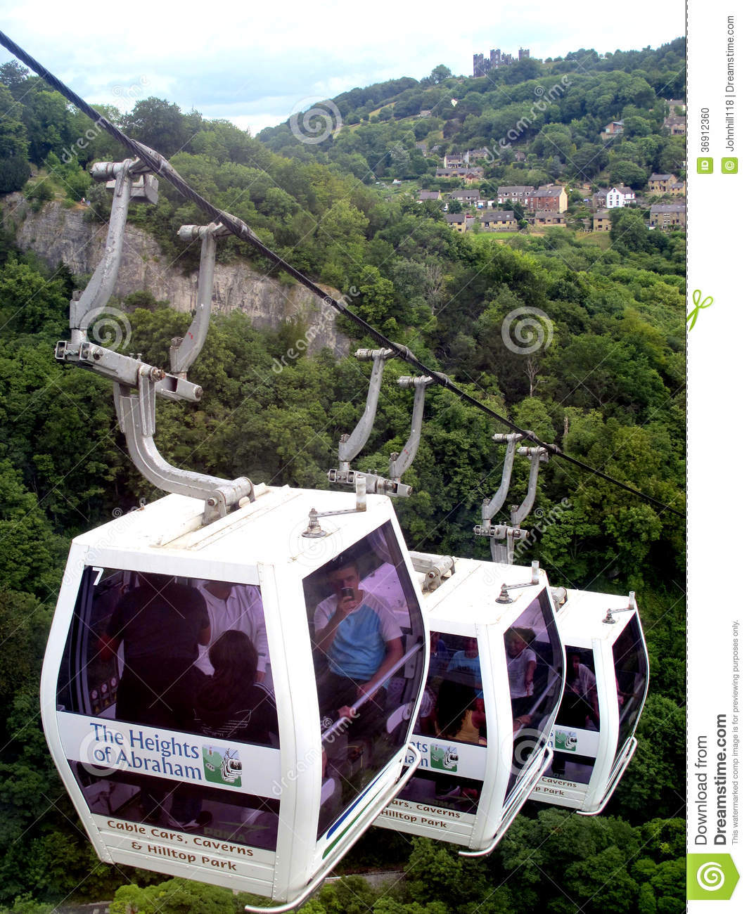 Cable cars, Heights of Abraham, Derbyshire