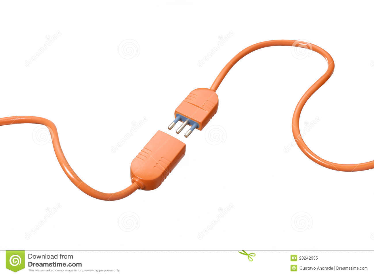 Cable Connection. Royalty Free Stock Photo - Image: 28242335