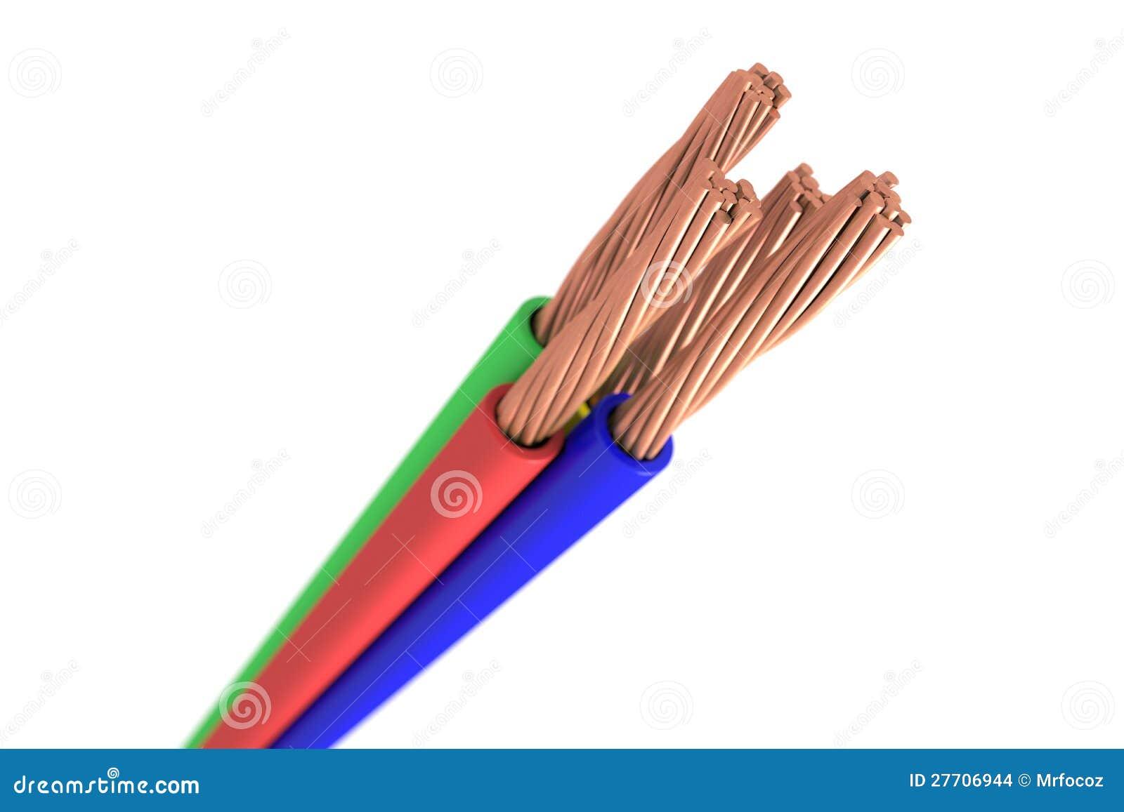 Cable de cobre stock de ilustraci n imagen de alambre - Alambre de cobre ...