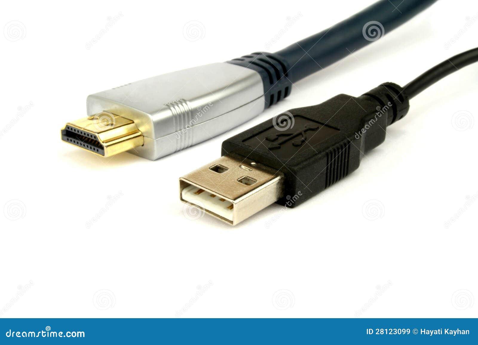 Cable de HDMI y de USB imagen de archivo. Imagen de input ... on usb 2 vs usb 3, usb tower, usb adapter, usb to micro usb, usb connector,