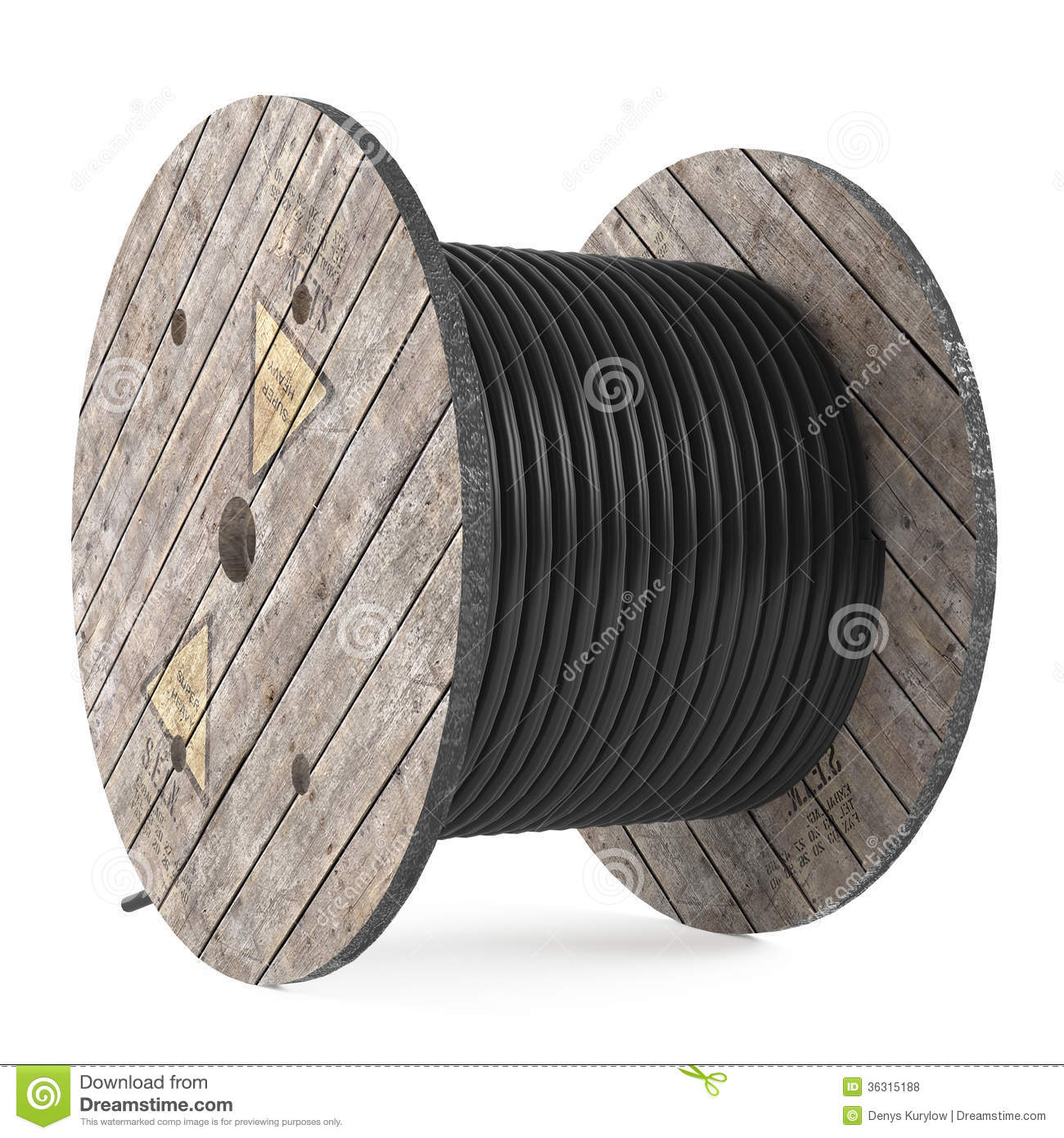 Cable Drums Industrial Hose Reel Stock Illustration