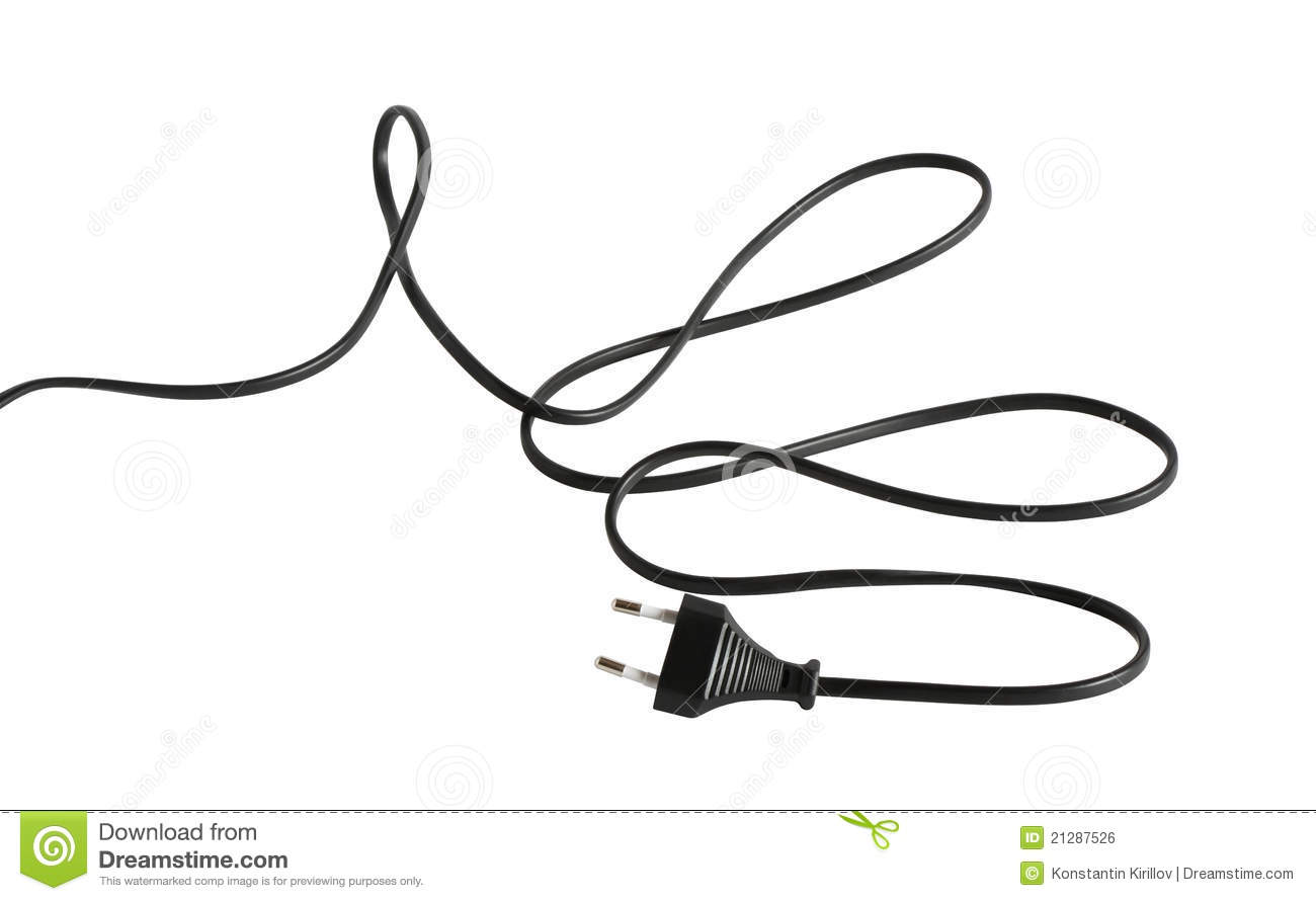 cable with electric plug royalty free stock image