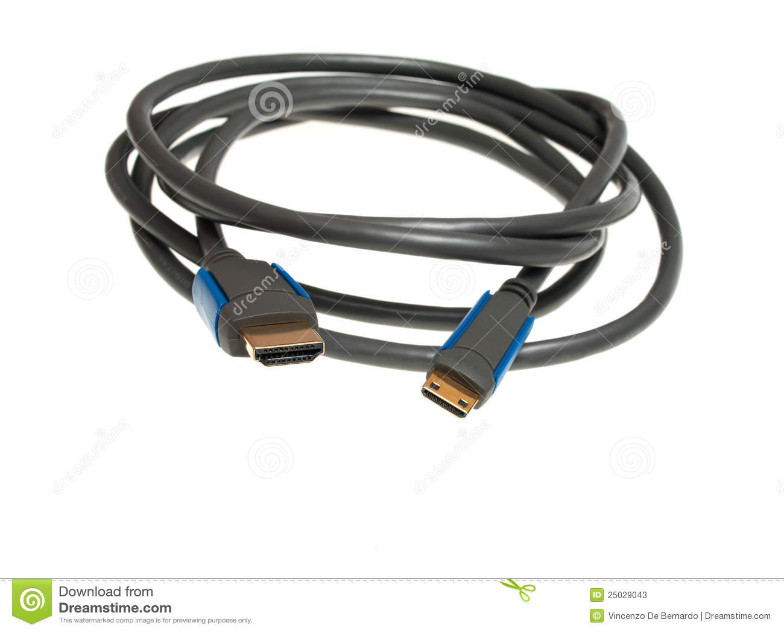 Hdmi To Mini Hdmi Adapter Stock Photo Cartoondealer Com