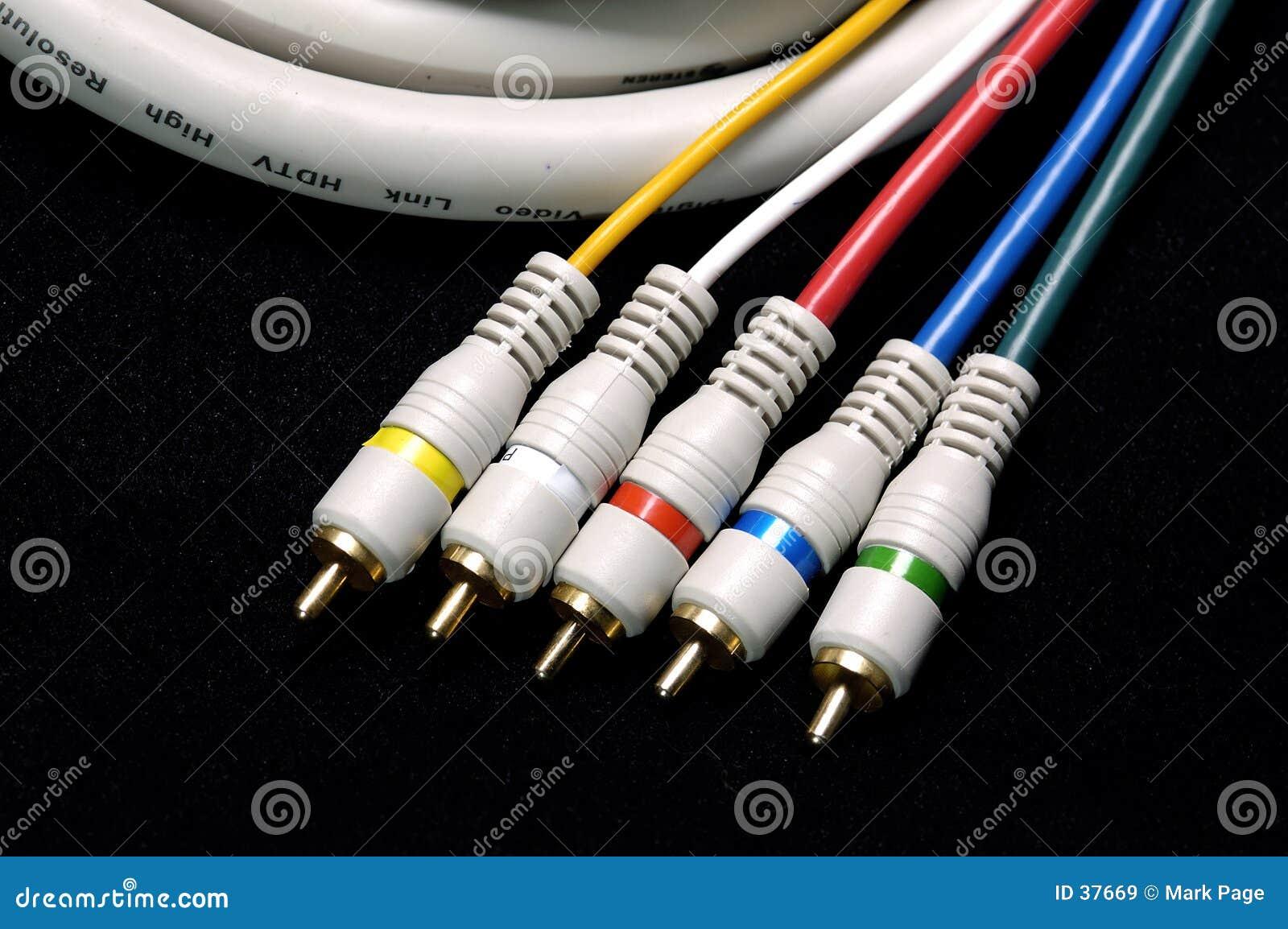 Download Cable hdtv obraz stock. Obraz złożonej z dźwigarki, złoto - 37669