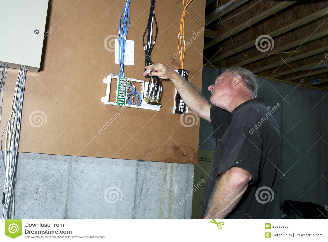 Cable Junction Box Stock Photo Image Of Handyman Yourself 20770930 Home Wiring