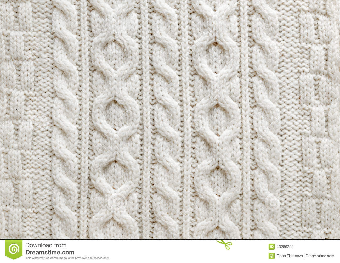 Knitting Pattern Wallpaper : Cable knit fabric background stock image
