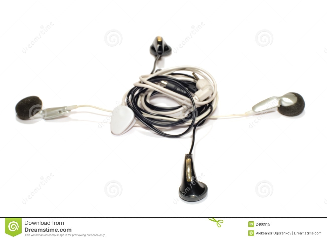 cable knot stock image image of phones headphones cable 2400915. Black Bedroom Furniture Sets. Home Design Ideas