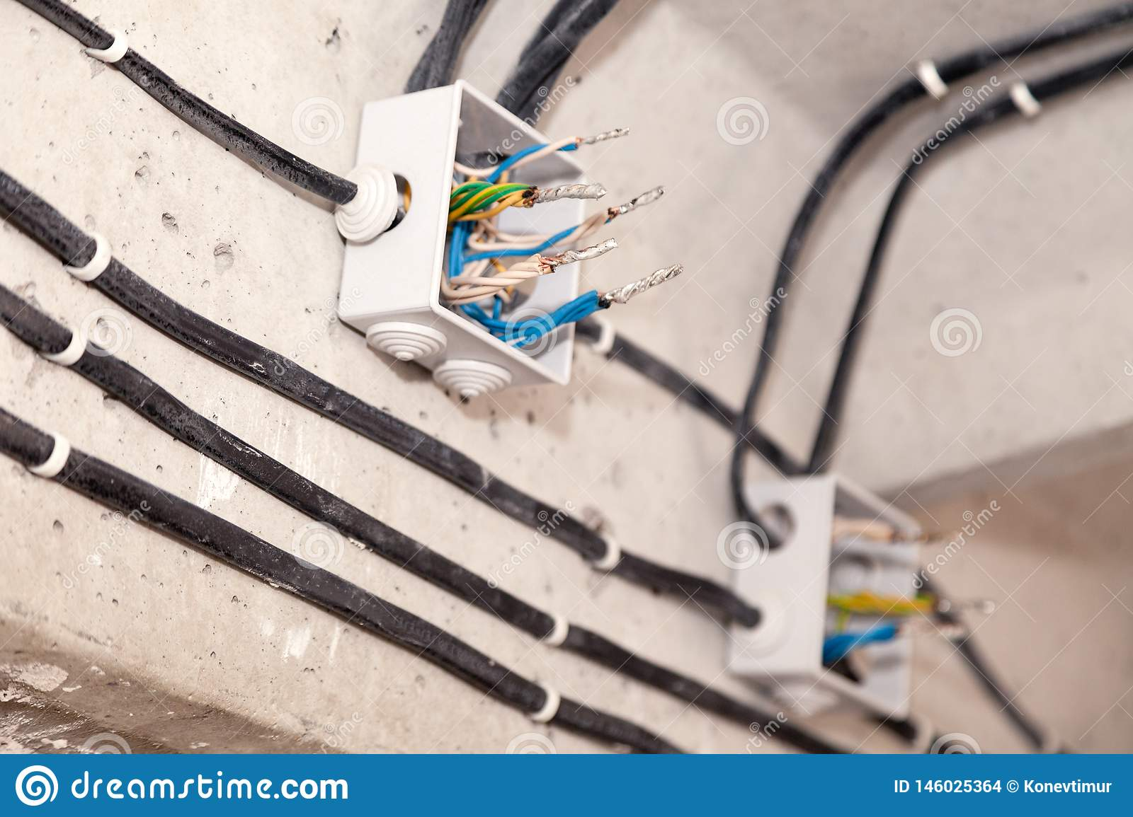 Cable Laying Ceiling  Electrical Wires On Wall  Wiring