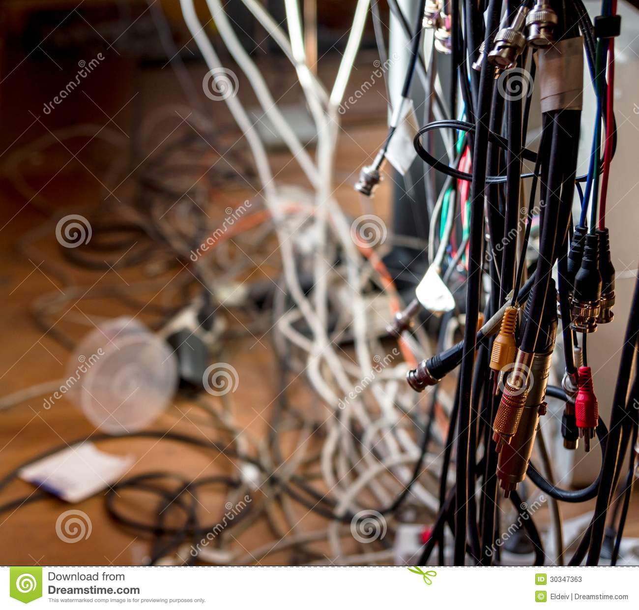 cable mess stock image image of obsolete installation 30347363. Black Bedroom Furniture Sets. Home Design Ideas