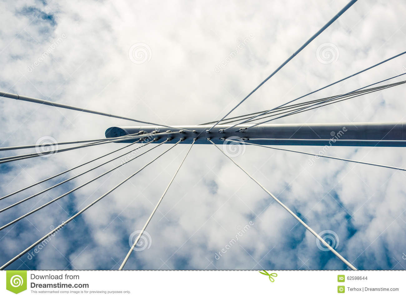 Cable support of bridge stock photo. Image of support - 62598644