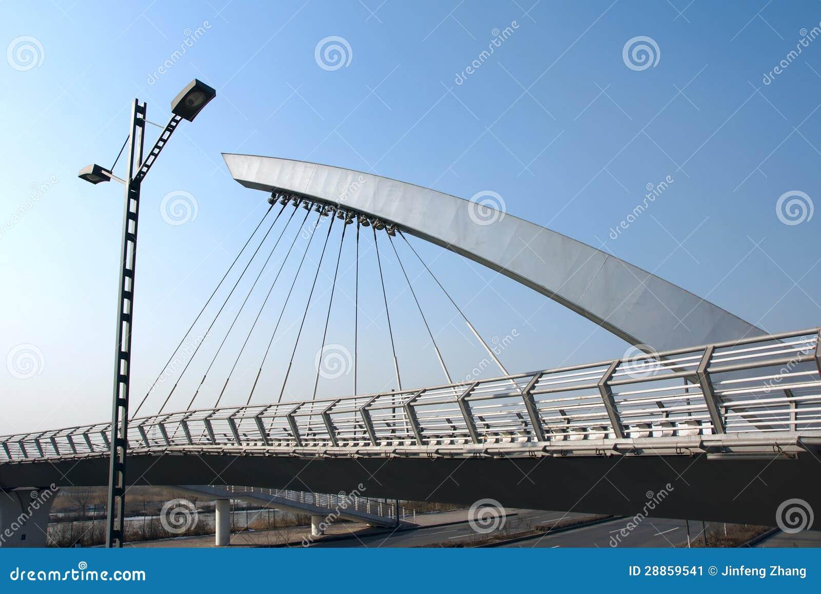 how to build a cable suspension bridge