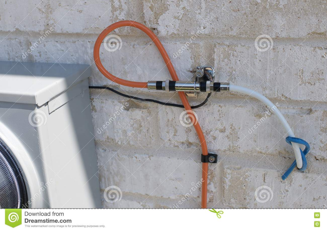 Cable Television Wiring Outside A House Stock Image - Image of ...