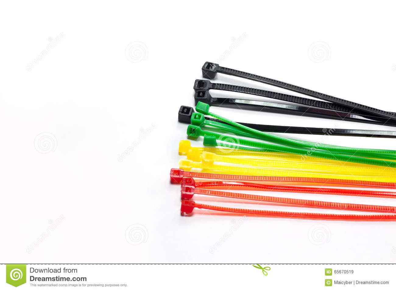 Cable tie stock image. Image of color, lock, cable, bundle - 65670519