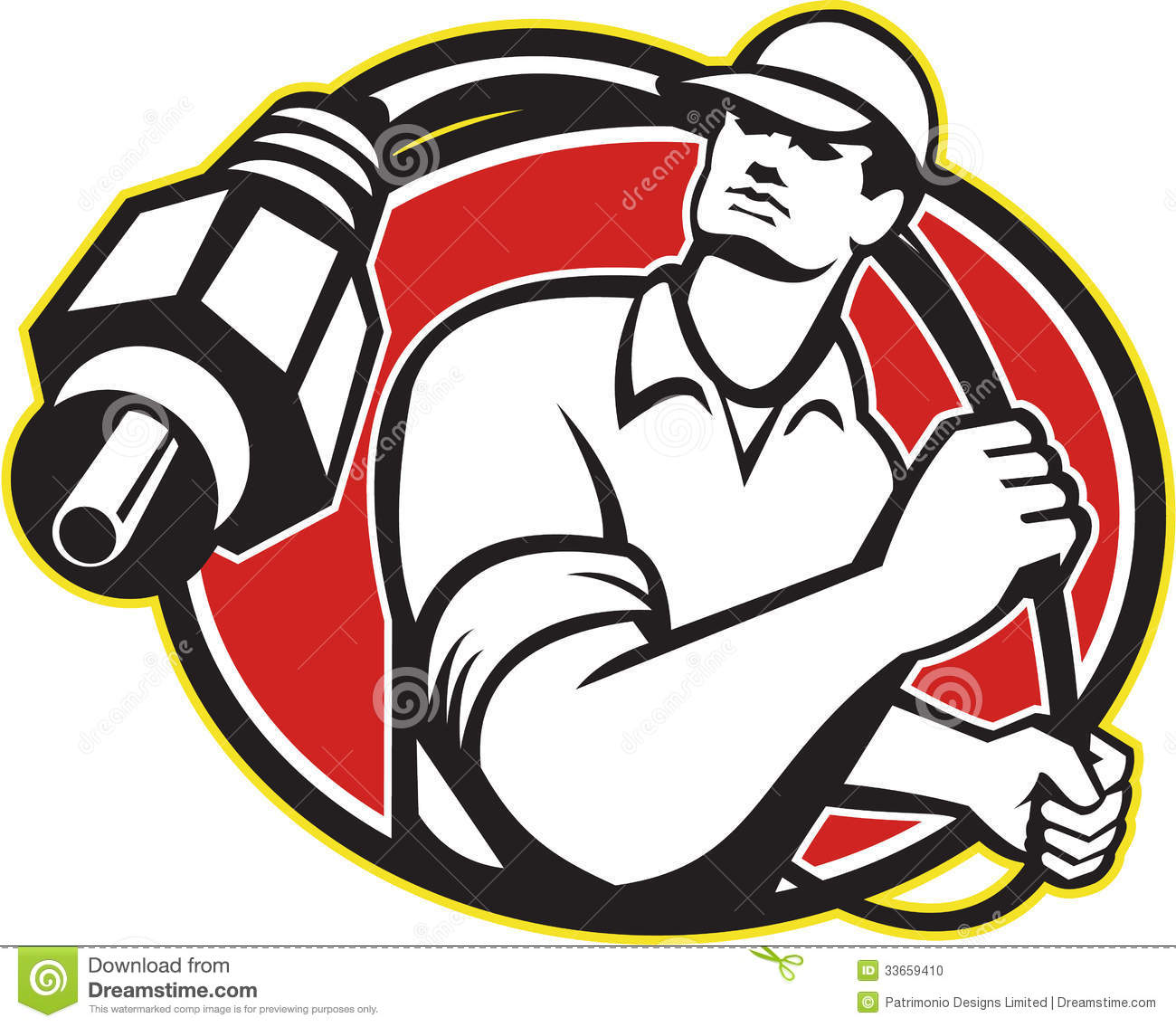 Cable TV Installer Guy Stock Photo - Image: 33659410