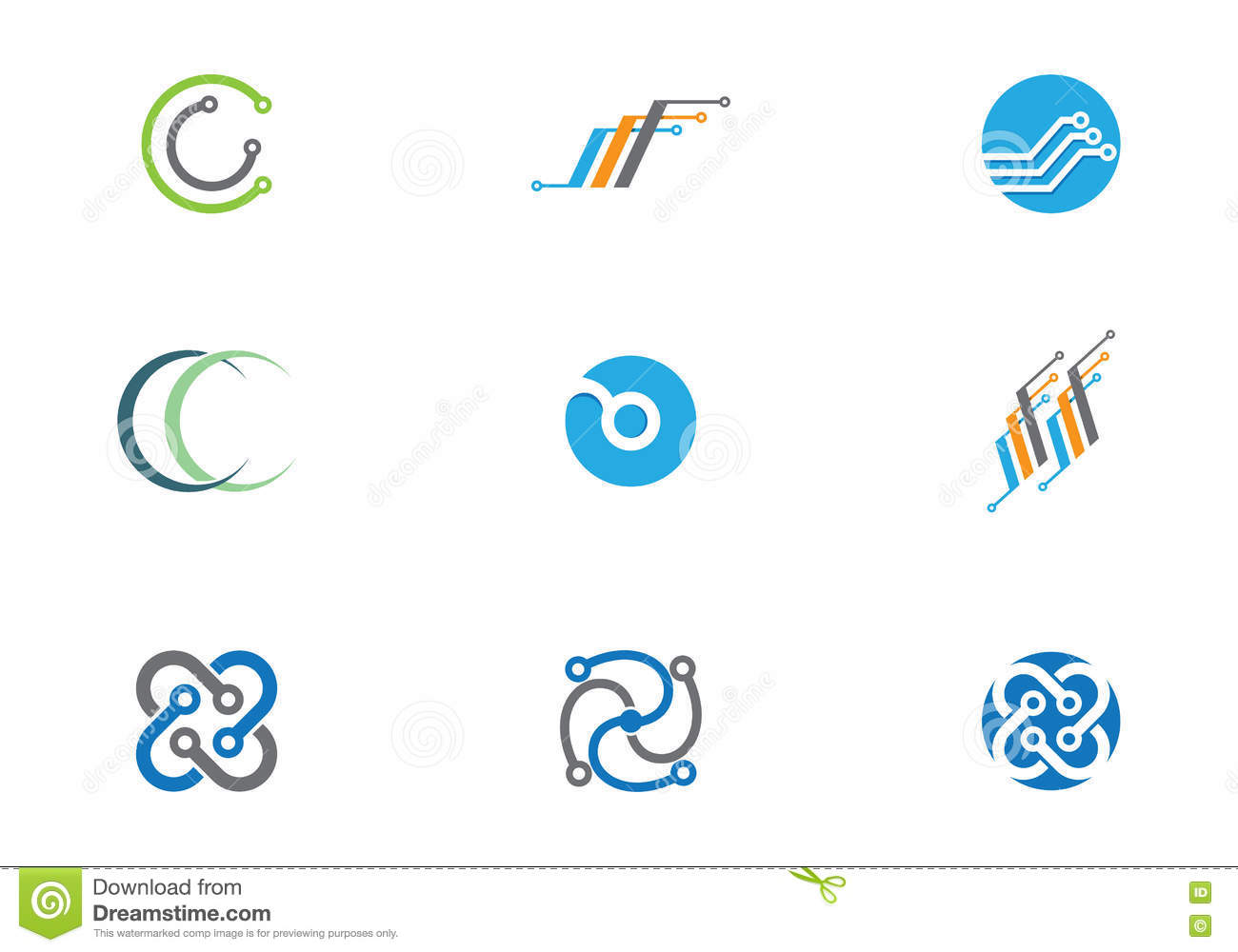 Cable, wires, wiring logo