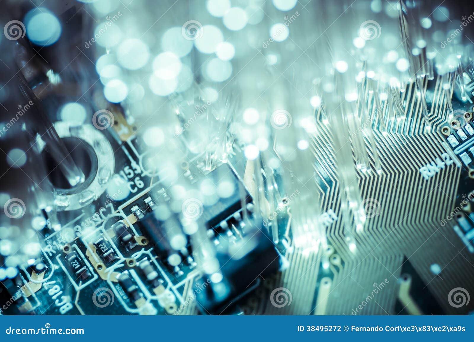 Cables ópticos de Connectivity.Fiber, conexión de la fibra, telecomunicat