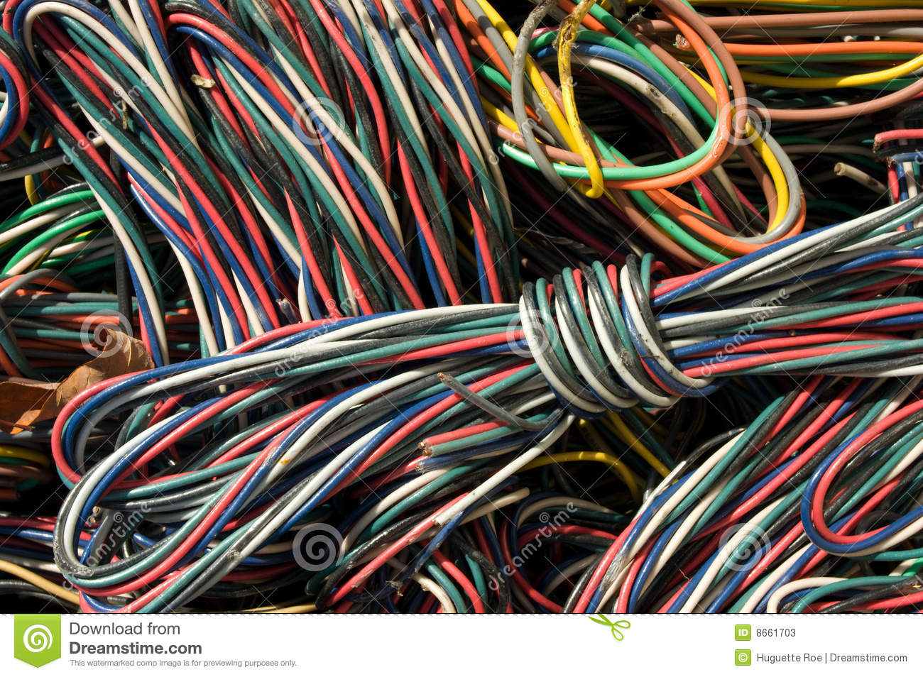 Cables close-up