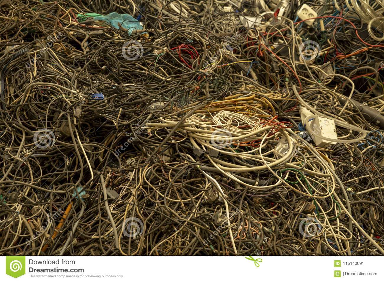 Cables tangled up stock image  Image of centre, rope - 115140091